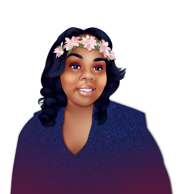 An illustrated portrait of Breonna Taylor.